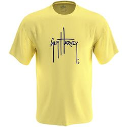 Guy Harvey Mens Logo Solid Short Sleeve T-Shirt