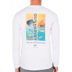 Guy Harvey Mens Sunset Sailfish Long Sleeve T-Shirt