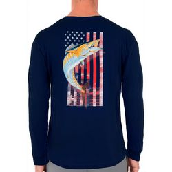 Guy Harvey Mens American Wahoo Long Sleeve T-Shirt
