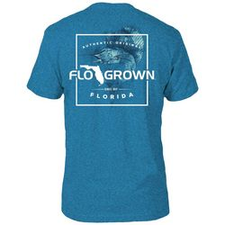 FloGrown Mens Sailfish Script Blue T-Shirt