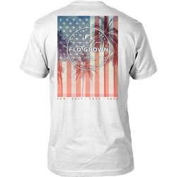 FloGrown Mens USA Palms Poster T-Shirt