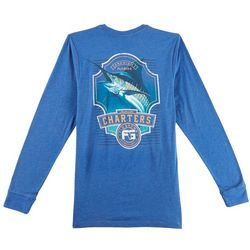 FloGrown Mens Marlin Charter Long Sleeve T-Shirt