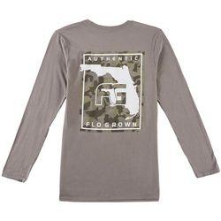 FloGrown Mens Camo Poster Long Sleeve T-Shirt