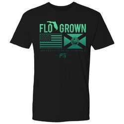 FloGrown Mens Double Flag Blend Short Sleeve T-Shirt