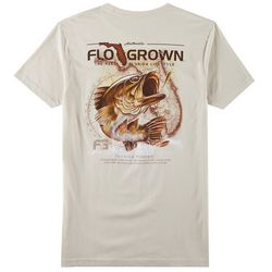 FloGrown Mens Vintage Bass Map Short Sleeve T-Shirt