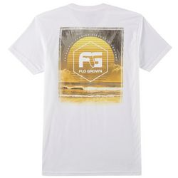 FloGrown Mens Faded Sun Short Sleeve T-Shirt