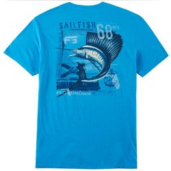 FloGrown Mens Sailfish License Short Sleeve T-Shirt