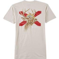 FloGrown Mens Deer Head Short Sleeve T-Shirt