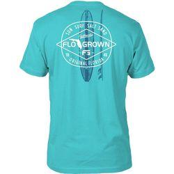 FloGrown Mens Surf Diamond Short Sleeve T-Shirt