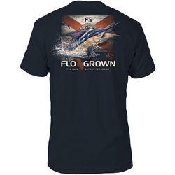 FloGrown Mens Florida Flag Marlin Short Sleeve T-Shirt