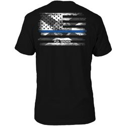 FloGrown Mens Blue Line Short Sleeve T-Shirt