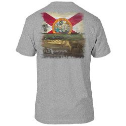 FloGrown Mens Heather Swimming Gator T-Shirt