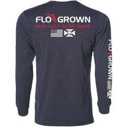 FloGrown Mens Double Salute Long Sleeve T-Shirt