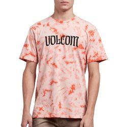 Volcom Mens Tie Dye Logo T-Shirt