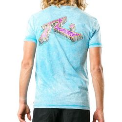Rusty Mens Bedrock Acid Washed T-Shirt