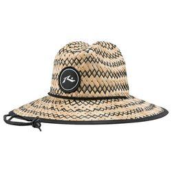 Rusty Mens Boony Straw Weave Logo Hat