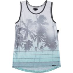 Ocean Current Mens Striped Palm Tank Top