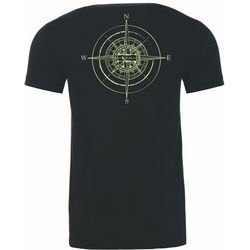 Local Mens Black Compass T-Shirt