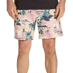 Billabong Mens Sundays Layback Island Print Boardshorts