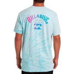 Billabong Mens Arch Tie Dye Short Sleeve T-Shirt