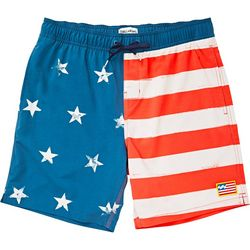 Billabong Mens Sundays Layback American Flag Boardshorts