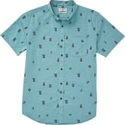 Billabong Mens Sundays Mini Succulent Print Woven Shirt