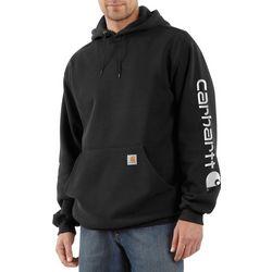 Carhartt Mens Signature Logo Hooded Sweatshirt