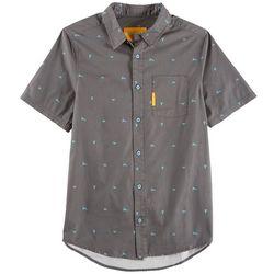 Flomotion Mens Razor Button Down Short Sleeve Shirt