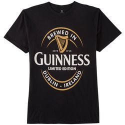 Philcos Mens Guiness Brewed In Dublin Logo Graphic T-Shirt