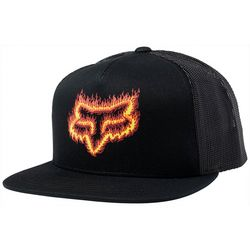 Fox Mens Flame Head Snapback Hat