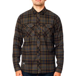 Fox Mens Traildust 2.0 Plaid Long Sleeve Shirt