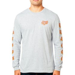 Fox Mens Flame Head Long Sleeve T-Shirt