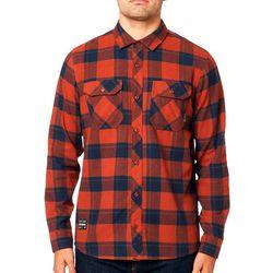 Fox Mens Traildust 2.0 Plaid Print Long Sleeve Shirt