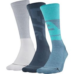 Under Armour Mens 3-pk. Phenom Graphic Crew Socks