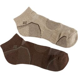 Columbia Mens 2-pk. Walking Low Cut Socks