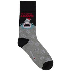 Holiday Socks Mens 2-pk. Santa Jaws Crew Socks