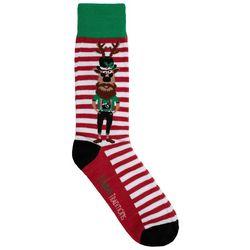 Holiday Socks Mens Drunk Moose Crew Socks