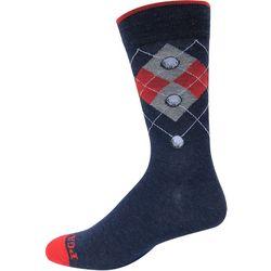 PGA Tour Mens 3-pk. Pro-Series Argyle Crew Socks