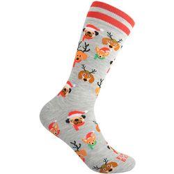 Funky Socks Mens Christmas Dogs Crew Socks
