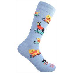 Funky Socks Mens Dog Sleigh Crew Socks