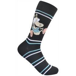 Nickelodeon Mens Rocko's Modern Life Crew Socks