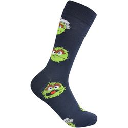 Nickelodeon Mens Oscar the Grouch Crew Socks