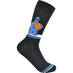 Nickelodeon Mens Cookie Monster Crew Socks