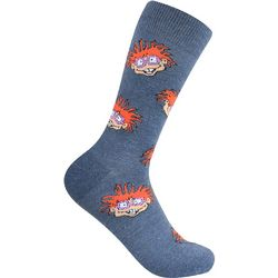 Nickelodeon Mens Rugrats Chuckie Crew Socks