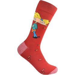 Nickelodeon Mens Hey Arnold Crew Socks