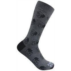Funky Socks Mens Boxer Dog Face Crew Socks