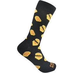 Funky Socks Mens Grilled Cheese Crew Socks