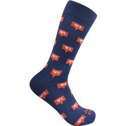 Funky Socks Mens Likes Crew Socks