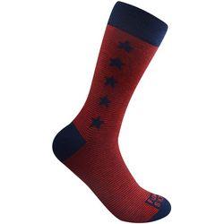 Funky Socks Mens Stars & Stripe Crew Socks