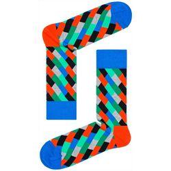 Happy Socks Mens Diagonal Stripe Crew Socks